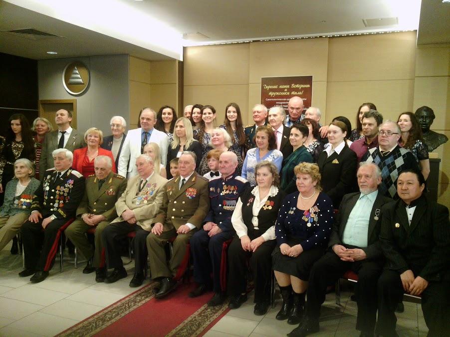 Пётр Иванков на встрече ветеранов войны 2013
